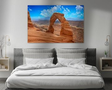 Delicate Arch in Arches National Park, USA van Gert Hilbink
