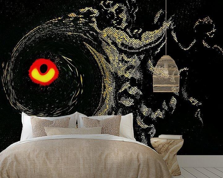 Sfeerimpressie behang: Universum – De Engel en het Zwarte Gat van Ruben van Gogh
