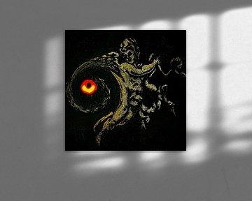 Universum - Der Engel und das schwarze Loch von Ruben van Gogh