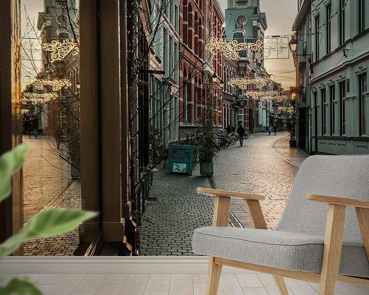 Sfeerimpressie behang: Warme tinten Sint Janstraat Breda van JPWFoto