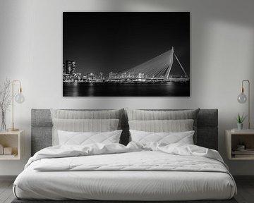 Erasmus Brücke Rotterdam von Marien Bergsma