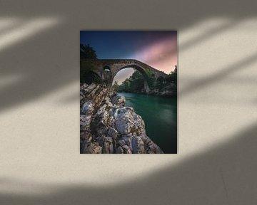 Asturias Cangas de Onis Romeinse Brug van Asturië van Jean Claude Castor