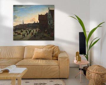 Der Damm und Damrak, Amsterdam, Jan van der Heyden