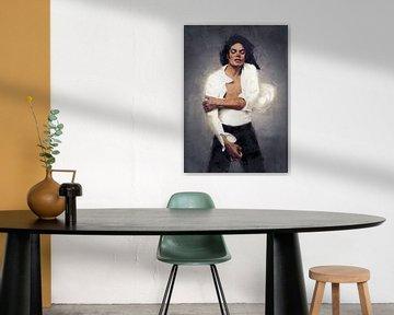 Michael Jackson Oilpaint van Bert Hooijer