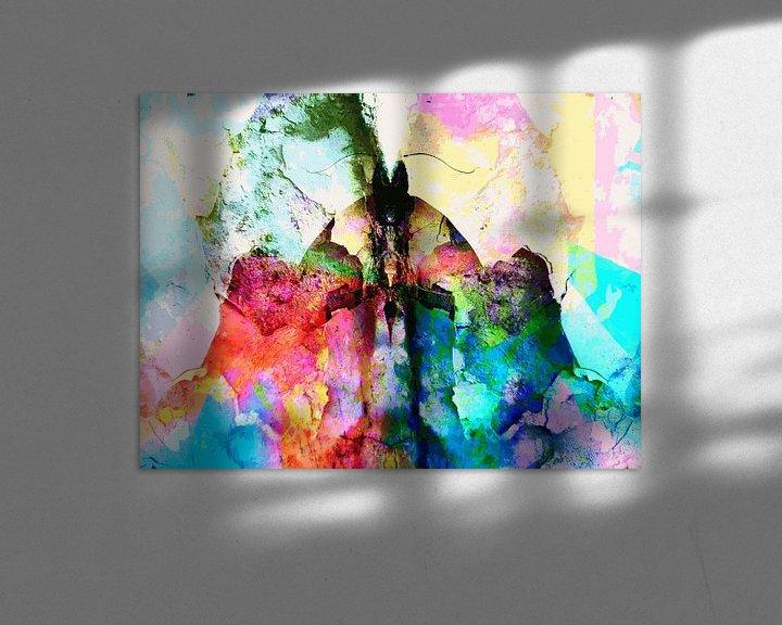 Beispiel: Modernes, abstraktes Kunstwerk - The Last To The Finish Line von Art By Dominic