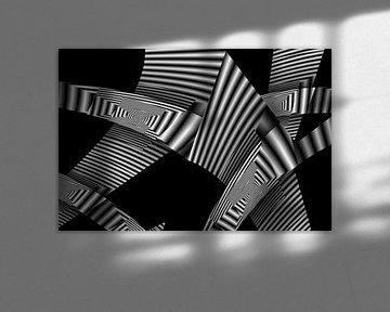 Monochrome Faltungen von Heidemarie Andrea Sattler