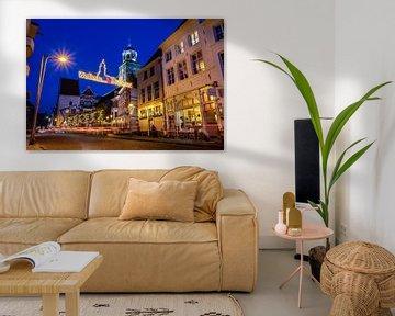 Welkom in Deventer in LED-verlichting aan Nieuwe Markt van VOSbeeld fotografie