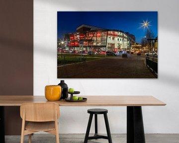 Theater Deventer Schouwburg in de avondspits van VOSbeeld fotografie