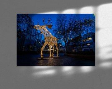 Lichtobject Henry the Moose in Deventer van VOSbeeld fotografie