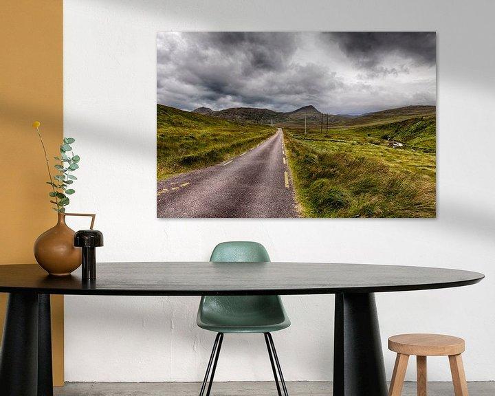 Sfeerimpressie: weg in ierland van Van Renselaar Fotografie