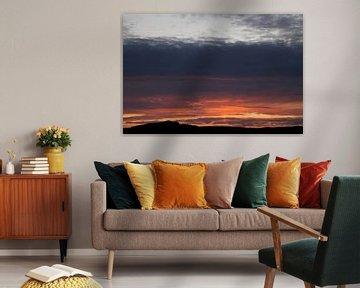 Zonsondergang met een toefje duin van Daan Ruijter