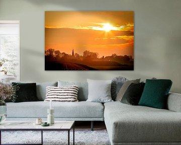 Sonnenuntergang Driel von Nicky Kapel