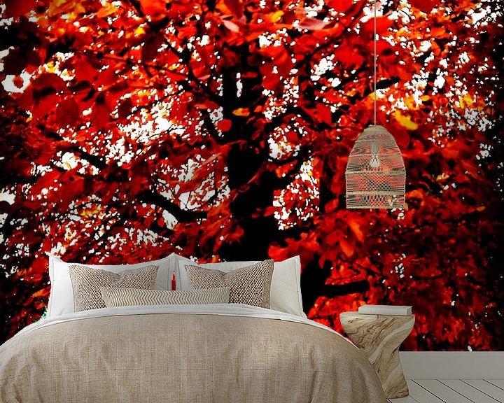 Sfeerimpressie behang: Vlammenboom van mimulux patricia no