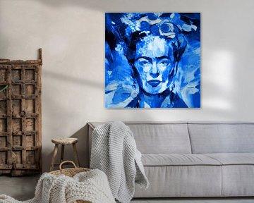 Motiv Frida Porträt Waterblue Splash von Felix von Altersheim