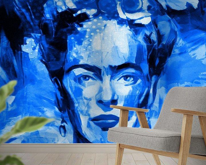 Beispiel fototapete: Motiv Frida Porträt Waterblue Splash von Felix von Altersheim