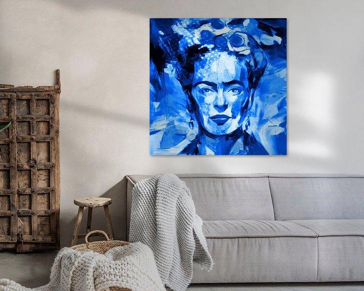 Beispiel: Motiv Frida Porträt Waterblue Splash von Felix von Altersheim