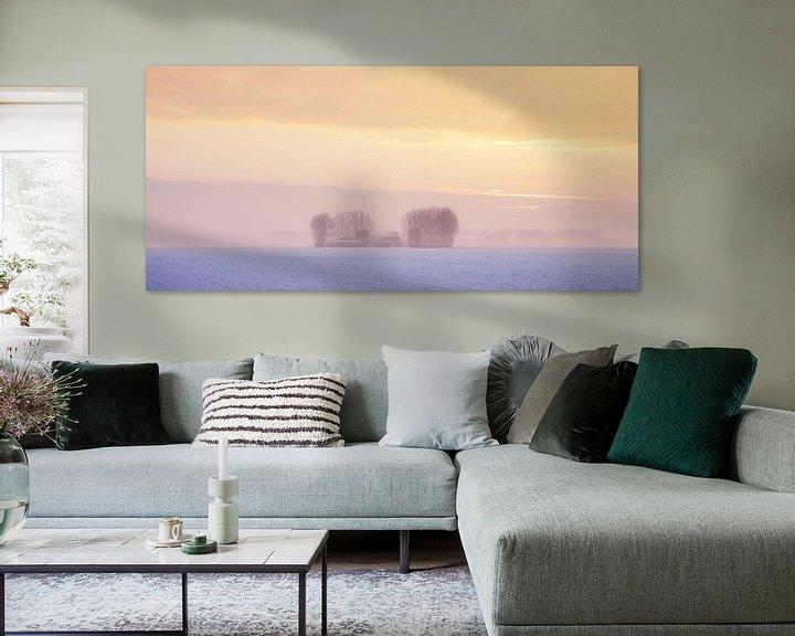Sfeerimpressie: Winterlandschap Zeeland van Frank Peters