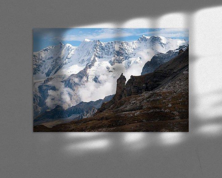 Sfeerimpressie: Witte muur van John Faber