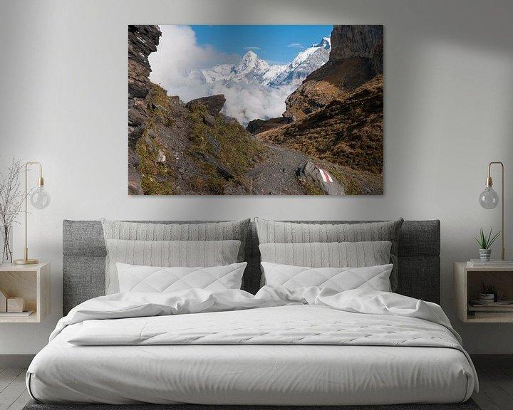 Sfeerimpressie: Bergpad in de Zwitserse Alpen van John Faber