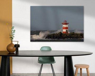Un phare dans le surf sur Simone Meijer