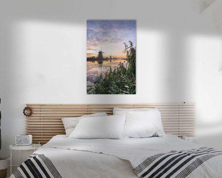 Impression: Moulins le long de la rivière sur Albert Lamme