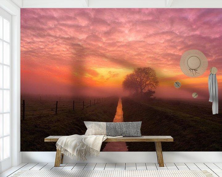 Sfeerimpressie behang: Sunset van Anneke Hooijer