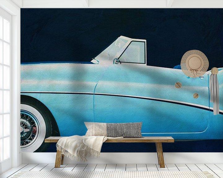 Sfeerimpressie behang: Buick Skylark 1956 van Jan Keteleer