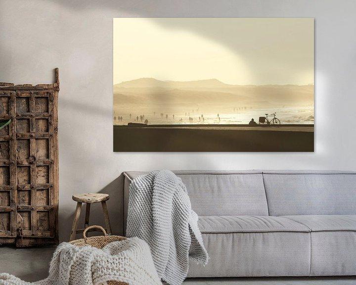 Sfeerimpressie: Zonsondergang aan het Scheveningse strand van Simone Meijer