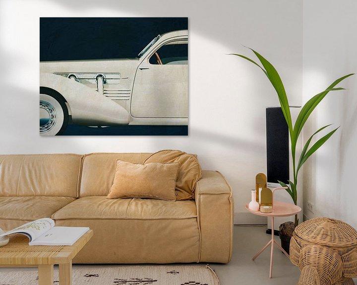 Sfeerimpressie: Cord 812 Sedan 1936 Schilderij van Jan Keteleer