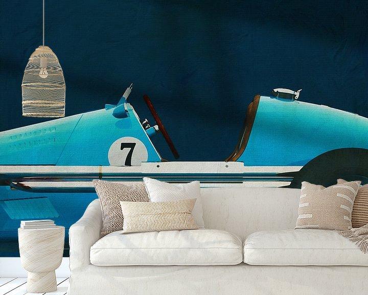 Sfeerimpressie behang: Gordini Grand Prix Close Up van Jan Keteleer