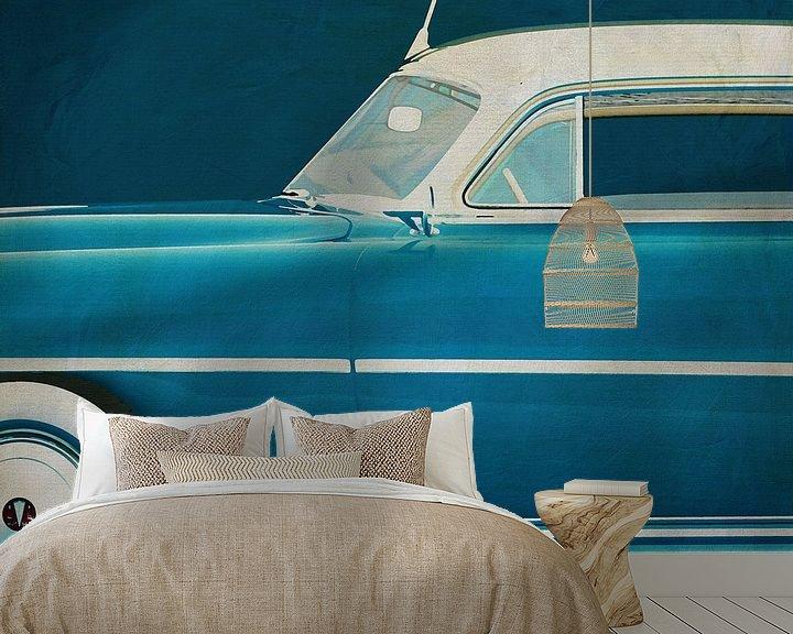 Sfeerimpressie behang: Hudson Hornet Coupé 1953 van Jan Keteleer