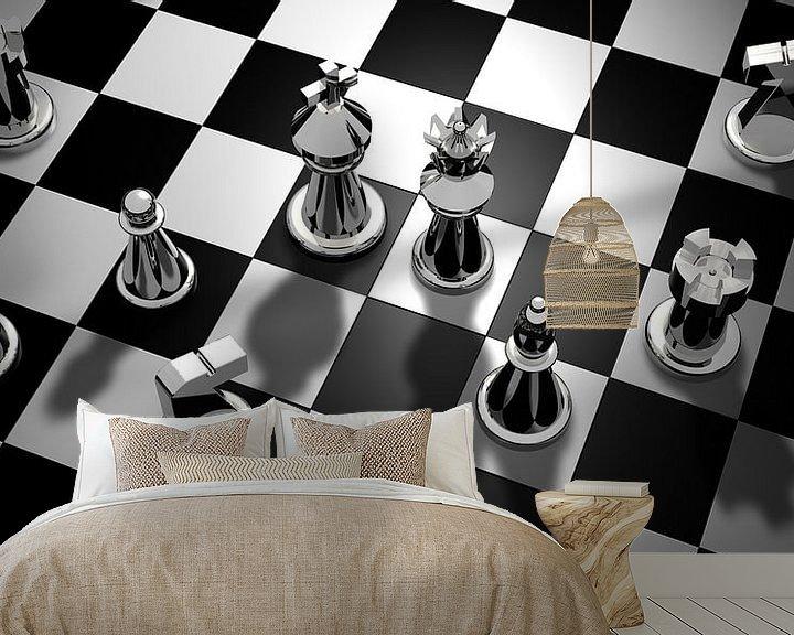 Beispiel fototapete: Schachbrett von Atelier Liesjes