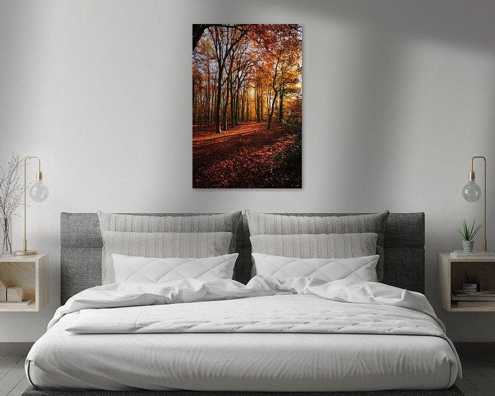 Sfeerimpressie: bos in koperkleur van Erik Reijnders