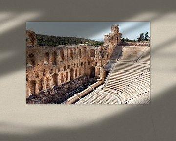 Griechenland Athen Odeon Akropolis Athen von Marianne van der Zee