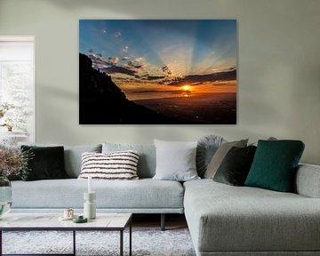 Valsbaai en Tafelberg van Peter Leenen