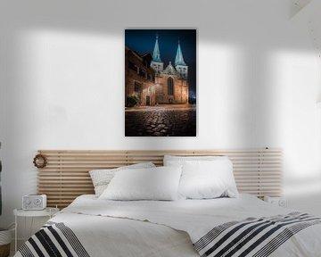 Bergkerk van Deventer in de avond #1