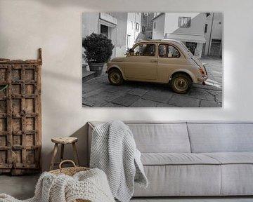 Fiat 500 Oldtimer Noir et Blanc