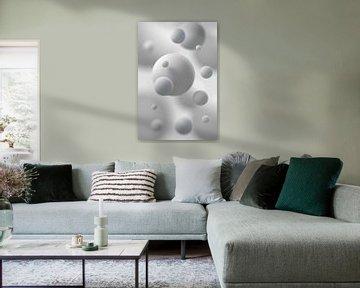 Sphères flottantes Gris sur Jörg Hausmann