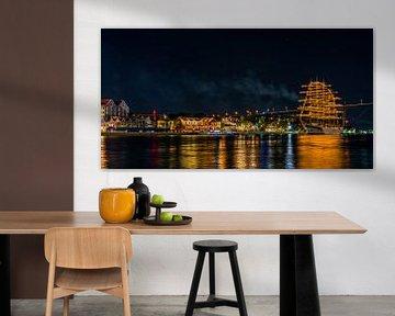 Willemstad bij nacht van Marjon Boerman