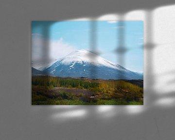 IJslandse besneeuwde berg van Marjon Boerman
