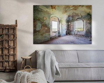 verlaten villa met fresco van Kristof Ven