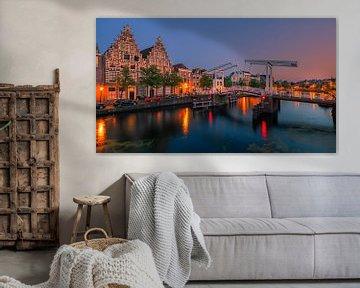 De Gravestenenbrug, Haarlem, Nederland van Henk Meijer Photography