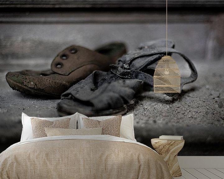 Beispiel fototapete: Einsame Schuhe von Cristel Brouwer