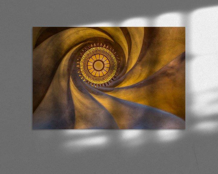 Beispiel: Decke von Gaudi in Barcelona von Maarten Hoek