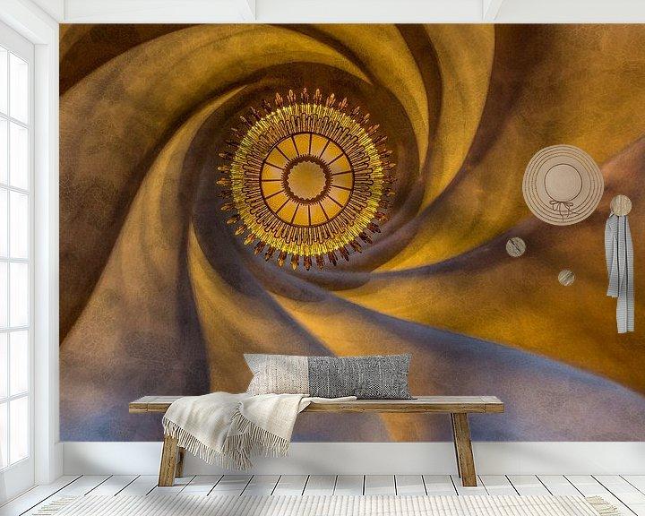 Beispiel fototapete: Decke von Gaudi in Barcelona von Maarten Hoek
