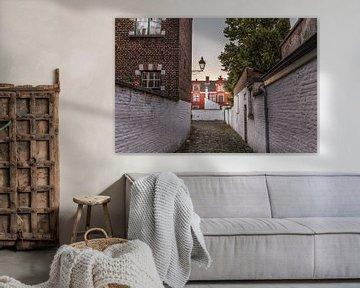 Der kleine Beginenhof in Gent, Flandern, Belgien von Maarten Hoek