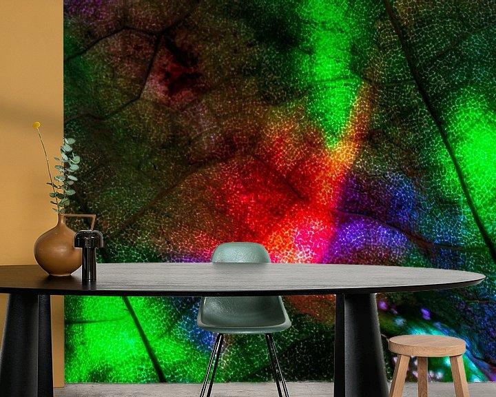 Sfeerimpressie behang: kleuren blad van emiel schalck