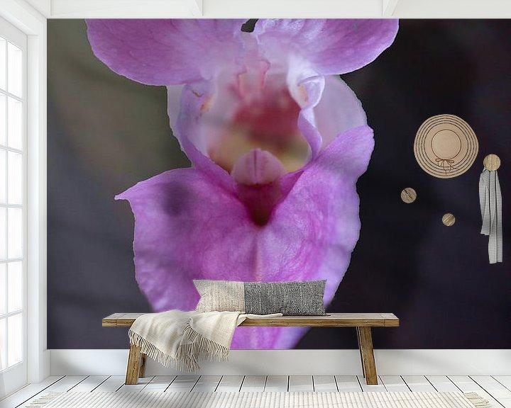 Sfeerimpressie behang: orchi van emiel schalck