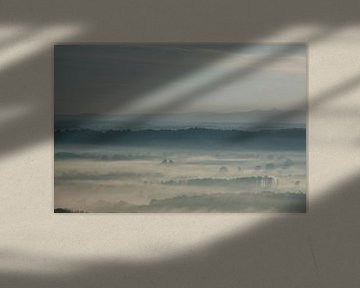 Ochtendmist in een frans landschap van Annet van Esch