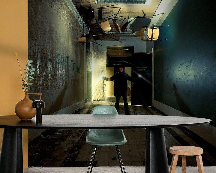 Beispiel fototapete: Me and my chairs von Jasper van der Meij